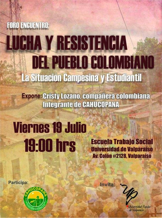 Foro Lucha y Resistencia del Pueblo Colombiano