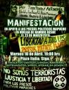 [Stgo, Chile] Viernes 10 Abril | Mitin + Comunicado de PP Mapuche en Huelga deHambre